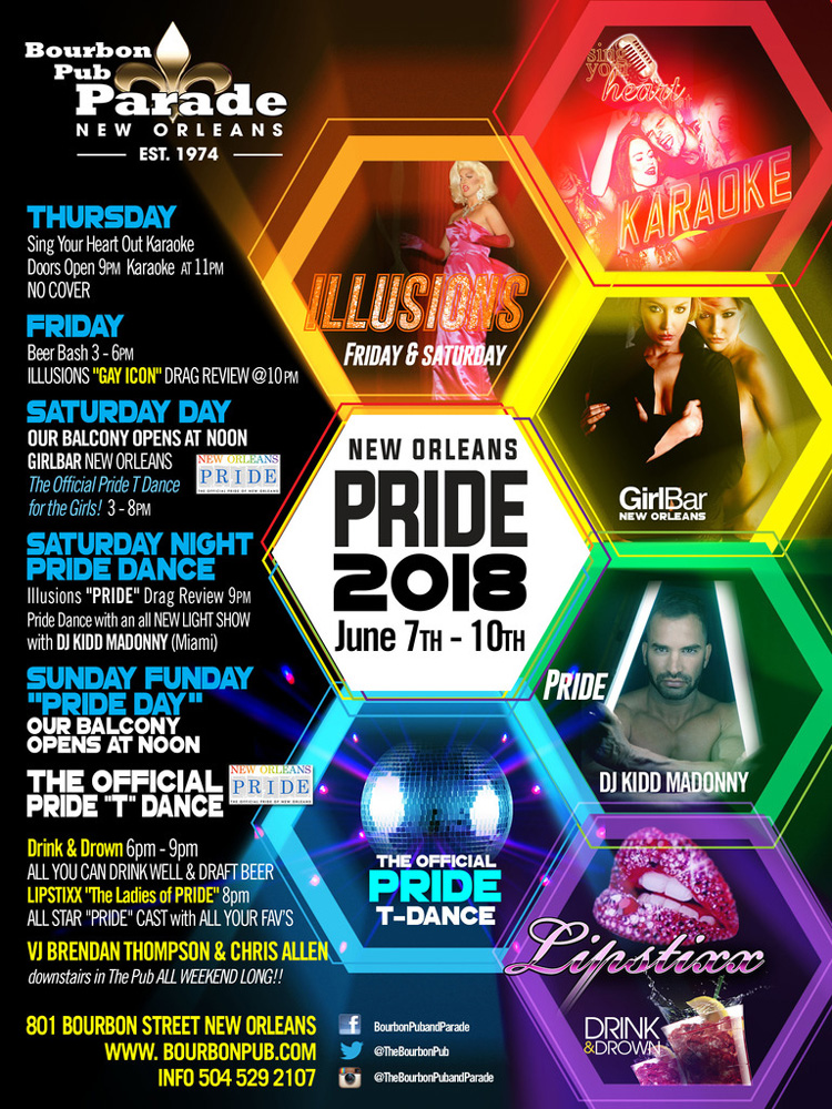 Gay Pride New Orleans - Events 2018